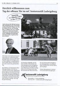 Ossweiler Vorstadt Kurier vom 10. Oktober 2012