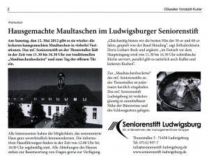 Ossweiler Vorstadt Kurier vom 9. Mai 2012