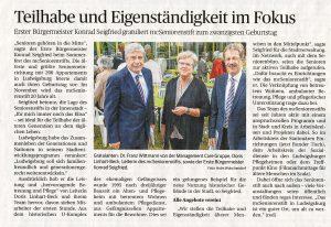 Ludwigsburger Kreiszeitung vom 8. Juli 2015